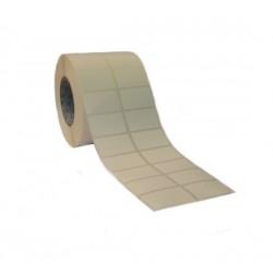 Etichette adesive 35x20 mm a 2 piste in rotoli da 4000 pz