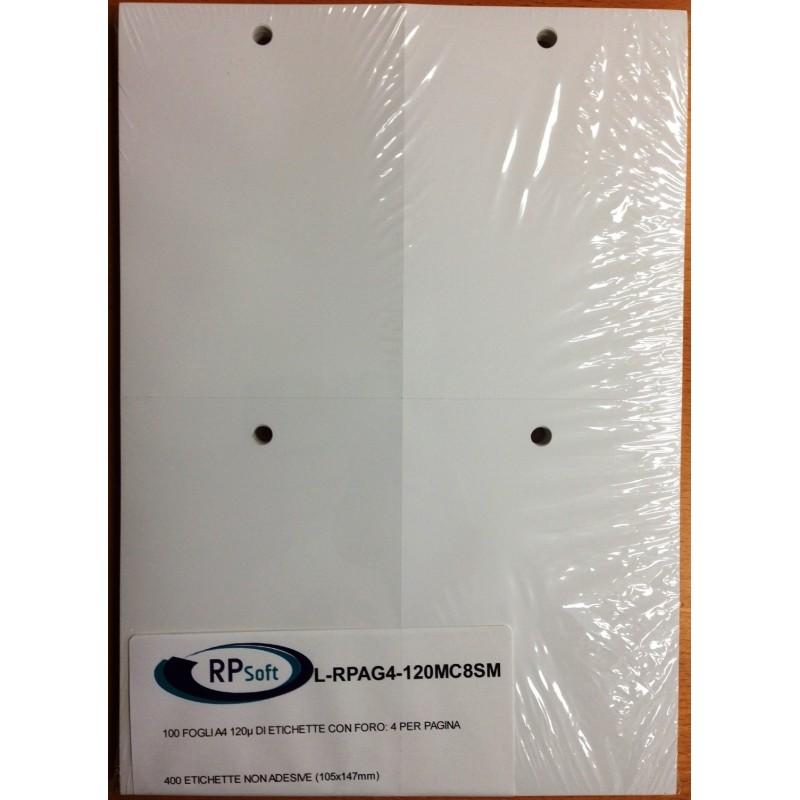 Etichette con foro 105x147mm - 4 per pagina