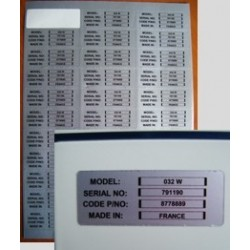 Adesive 63X24 mm f.to A4 in plastica per laser 33 per foglio