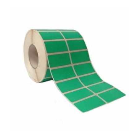 Etichette adesive 50x25 mm a due piste verde