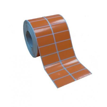 Etichette adesive 50x25 mm a due piste arancione