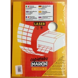 Adesive 52X30 mm f.to A4 in plastica per laser 40 per foglio
