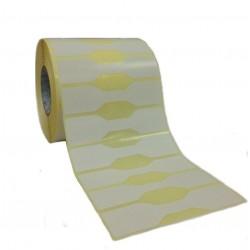 """Adesive 105x25 mm a 1 pista """"a farfalla"""" in rotoli da 2000 pz"""
