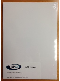 FOGLI IN PLASTICA F.TO A4 per LASER 120gr