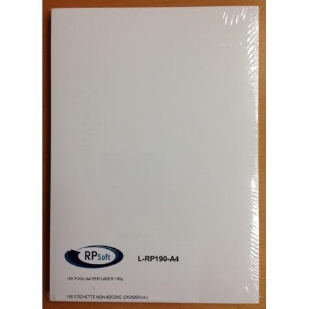 FOGLI IN PLASTICA F.TO A4 per LASER 190gr