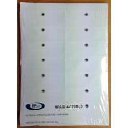 Etichette con foro 105x37mm - 14 per pagina